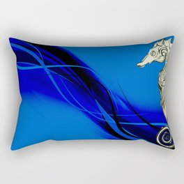 Tribal Seahorse Rectangular Pillow