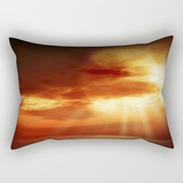 sunrise in the sea Rectangular Pillow