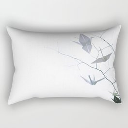 Origami Cranes and Tree Branches Peace Rectangular Pillow