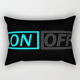 Light On Off Rectangular Pillow