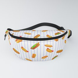 Hot Dog Pattern With Pinstripes Fanny Pack