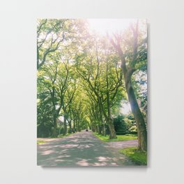 East Hampton Summer Drive Metal Print