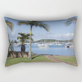 Boats in the Bay Rectangular Pillow