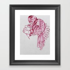 Red Mirror Gypsy Framed Art Print
