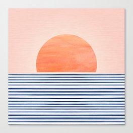 Summer Sunrise - Minimal Abstract Canvas Print