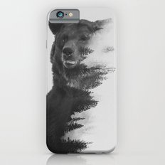 Observing Bear (black & white version) iPhone 6s Slim Case