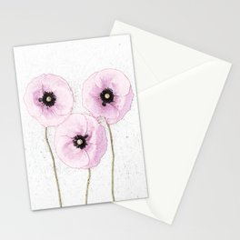Delicate Poppies Stationery Cards