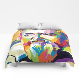 Galileo in Pop Art Portrait Comforters