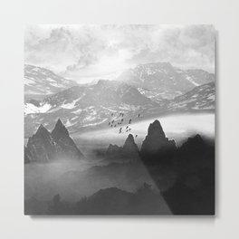 Black and White - Winter. Melody... Metal Print