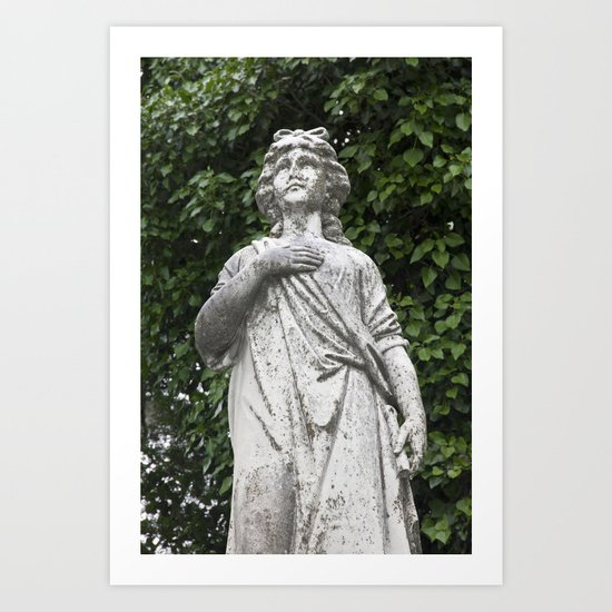Woman Statue Closeup Art Print