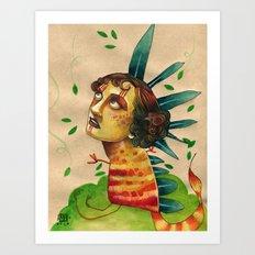 FALLING LEAVES Art Print