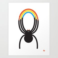 Spiders Are Rainbows Art Print