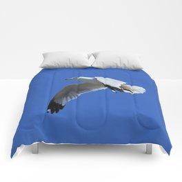 Ring-Billed Gull in Flight Comforters