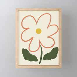 Simple Spring Flower Framed Mini Art Print