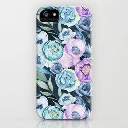 Dark Floral Spring iPhone Case