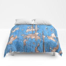 Flaky Blue 61 Comforters