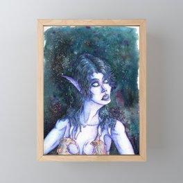 Void Elf Ren'dorei Female Portrait WoW Fanart Framed Mini Art Print