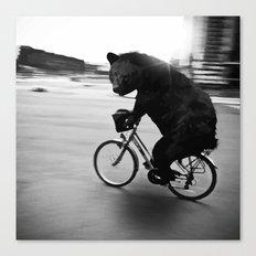 Biker Road Canvas Print
