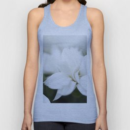 Snow White Flowers on a Dark Background #decor #society6 #buyart Unisex Tank Top
