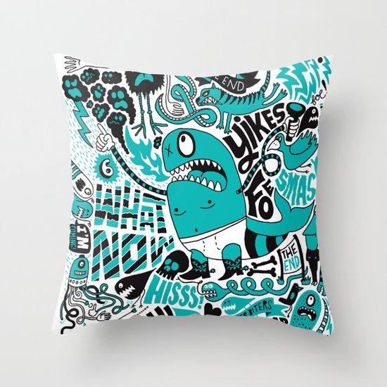 Foe! Throw Pillow
