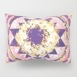 Golden Fire Sri Yantra Pillow Sham