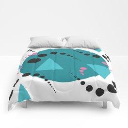 Blue Bubble Comforters