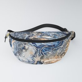Breaking Waves Abstract Painting Fanny Pack