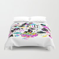 gravity falls Duvet Covers featuring Gravity by Muxxi