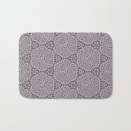 Grey Lace Coin Vintage Inspired Design Badematte
