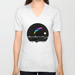 Night Swimming Unisex V-Neck