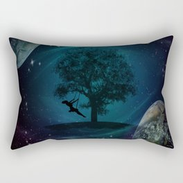 Tree Swing In Space Rectangular Pillow