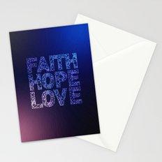 Faith Hope & Love Stationery Cards