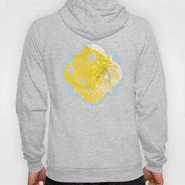 Watercolor Dandelions:  Artistic bold yellow on white Hoody