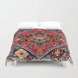 Qashqa'i Antique Fars Persian Bag Face Print Duvet Cover