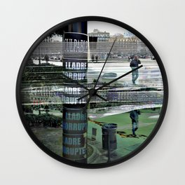 """Sunday 10 March 2013: """"...all the colo(u)rs bleed..."""" Wall Clock"""