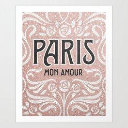 Paris (blush) Art Print