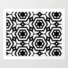 Vogelaar Black & White Pattern Art Print