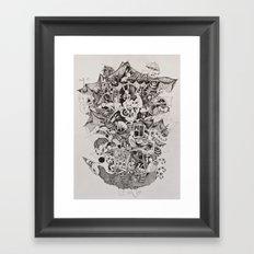 Flighless bird Framed Art Print