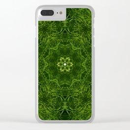 Grassy Field Clear iPhone Case