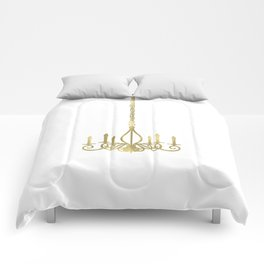 Gold Glam Chic Chandelier Comforters