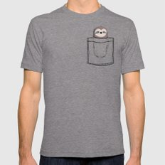 My Sleepy Pet MEDIUM Tri-Grey Mens Fitted Tee