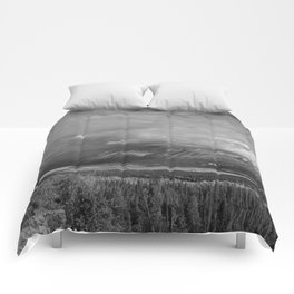 Matanuska Glacier Mono Comforters