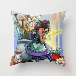 Crafting Sprite Throw Pillow