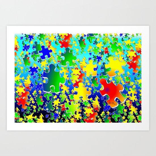 Puzzling Art Print