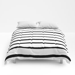 Black and White Rough Organic Stripes Comforters