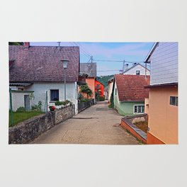 Picturesque little village lane | architectural photography Rug