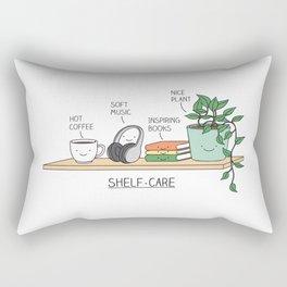 Weekend self-care Rectangular Pillow