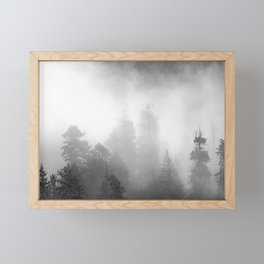 Harmony - Misty Mountain Forest Nature Photography Framed Mini Art Print
