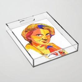 Rosalind Franklin by Aitana Pérez Acrylic Tray
