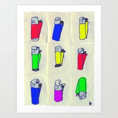 Nine Crap clippers. Art Print